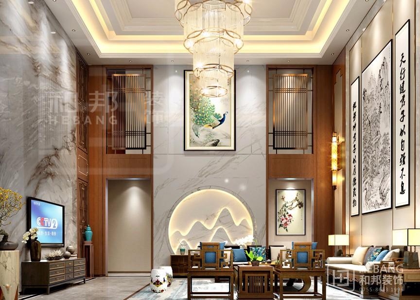 新中式别墅设计怎么搭配窗帘色彩?